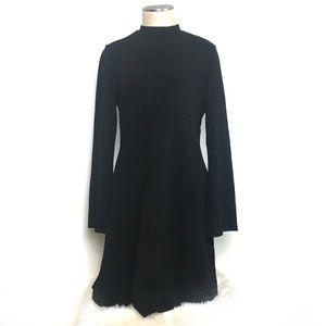 Ivanka Trump Mock Neck Long Sleeve Dress